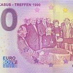 Das Kaukasus – Treffen 1990 2021-42 0 euro banknote souvenir schein germany