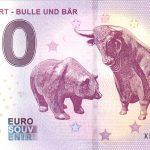 FRANKFURT BULLE UND BÄR 2018-1 zero euro souvenir bankovka 0 e banknote