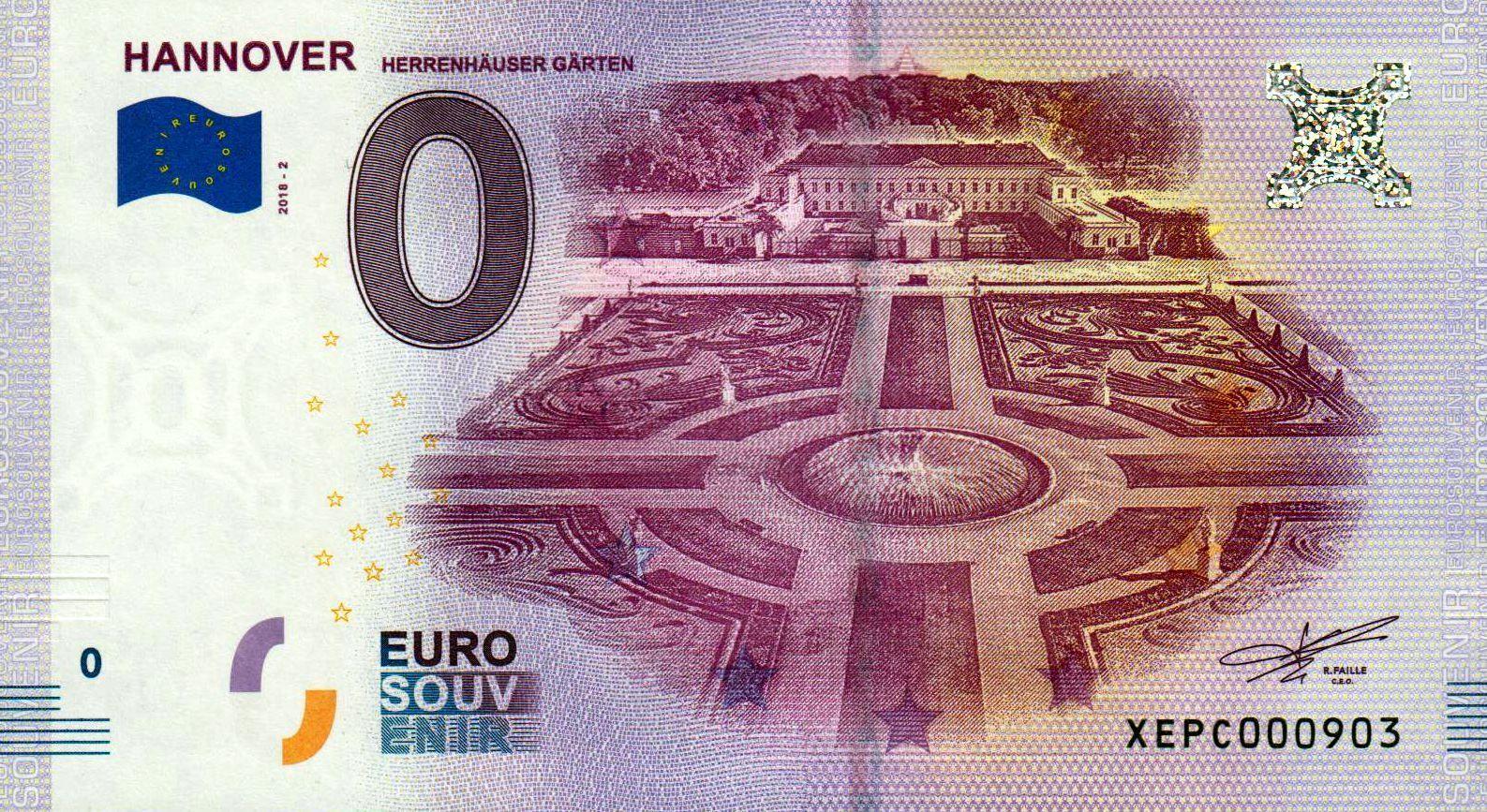 Hannover 2018 2 herrenhauser garten zero euro souvenir for Hannover souvenirs