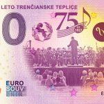 Hudobné leto Trenčianske Teplice 2020-2 0 euro souvenir bankovka slovensko