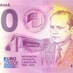Imrich Karvaš 2020-1 0 euro souvenir bankovka slovensko
