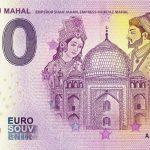 India – Taj Mahal 2019-1 0 euro souvenir banknote emperor shahjahan