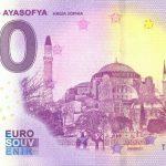 Istanbul – Ayasofya 2020-2 0 euro souvenir banknote turkey