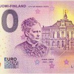 Kuopio Suomi Finland 2018-1 city of minna canth 0 euro souvenir bankovka