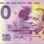 Kuzey Kibris 2019-1 0 euro souvenir banknote dr. fazil kucuk