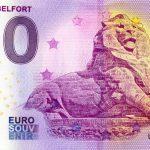 Lion de Belfort 2020-2 0 euro souvenir banknote