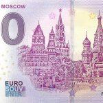 MOCKBA MOSCOW 2019-1 0 euro zero souvenir banknote