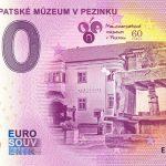 Malokarpatské múzeum v Pezinku 2020-1 ND 0 euro souvenir bankovka slovensko