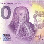 Marqués de Pombal 2021-1 0 euro souvenir portugal banknotes