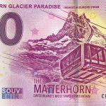 Matterhorn Glacier Paradise 2019-4 0 euro souvenir swizz schein banknote