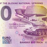Museum of the Slovak National Uprising 2020-4 0 euro souvenir bankovka slovensko