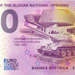 Museum of the Slovak National Uprising anniversary 0 eurova bankovka slovensko zero euro souvenir
