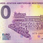 Netherlands – Station Amsterdam Westerdok 2019-1 0 euro souvenir banknote