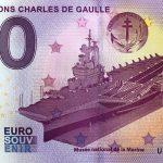 PORTE-AVIONS CHARLES DE GAULLE 2017-1 zero euro souvenir banknote 0€ schein billet