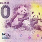 Panda´s Romance 2019-22 0 euro bankovka cina zero euro souvenir banknote