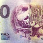 Panda 2018-1 CNAP 0 euro souvenir slovensko