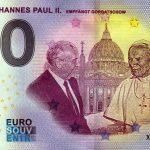 Papst Johannes Paul II 2021-49 0 euro souvenir banknotes germany