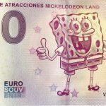 Parque de Atracciones Nickelodeon Land 2019-1 zero euro souvenir 0 € banknote