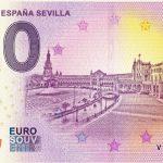 Plaza de Espana Sevilla 2019-1 0€ souvenir zero euro banknote