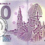 Pope John Paul II 2019-2 pečiatka 0 euro souvenir schein zero euro banknote