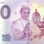 Pope Paul VI 2019-1 zeroeuro souvenir schein 0€ banknote suvenirova bankovka