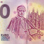 Pope Pius XI 2019-1 zero euro souvenir bankovka 0€ banknotes