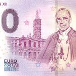 Pope Pius XII 2019-1 0 euro souvenir banknotes zero € bankovka