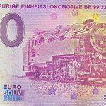 Schmalspurige Einheitslokomotive BR 99.22 2021-2 0 euro souvenir schein germany banknote