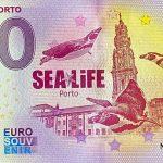 Sea Life Porto 2020-2 0 euro souvenir banknotes portugal
