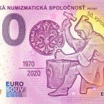 Slovenská numizmatická spoločnosť 2020-1 0 euro souvenir bankovka slovensko