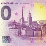 Stockholm Sverige 2019-1 zero euro souvenir 0€ bankovka