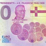 Suomen Presidentti – J.K.Paasikivi 1946-1956 2021-7 0 euro souvenir banknotes