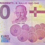 Suomen Presidentti – K. Kallio 1937-1940 2021-4 0 euro souvenir banknotes finland