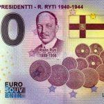 Suomen Presidentti – R. Ryti 1940-1944 2021-5 0 euro souvenir banknotes suomi finland