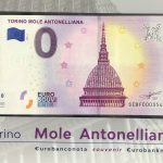 Torino mole Antonelliana 2019-1 folder 0 euro souvenir italy
