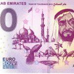 United Arab Emirates 2019-1 0 euro souvenir banknote
