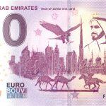 United Arab Emirates 2019-1 year of zayed 0 euro souvenir bankovka