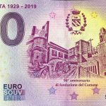 Villasanta 1929-2019 2019-1 0 euro souvenir schein italy banknote