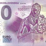 Vznik Československa 100 rokov 2018-1 0 euro souvenir bankovka cesko slovensko reliéfna pečiatka