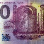 atelier de lumiéres, paris 2020-3 anniversary 0 euro souvenir banknotes