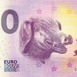 pig 2019-1 0 euro souvenir banknote cina bankovka prasa