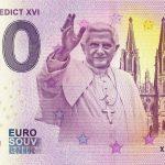 pope benedict xvi 2019-1 0 euro souvenir bankovka schein zero € banknotes