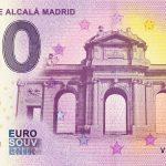 zero euro Puerta de Alcalá Madrid 2020-1 0 euro souvenir banknotes