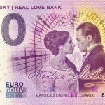 zero euro banka lasky real love bank 2018-1 billet souvenir 0 schein