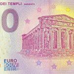 zero euro souvenir La Valle dei Templi 2020-1 0 eurove banknovky