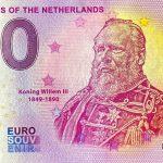 zero euro souvenir Monarchs of the Netherlands 2020-5 0 euro banknotes