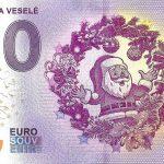 zero euro souvenir vianoce stastne a vesele 2019-1 0 euro bankovka slovensko peciatka